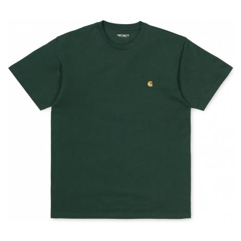 Carhartt WIP S/S Chase T-Shirt Dark Teal / Gold-XL zelené I026391_0F2_90-XL