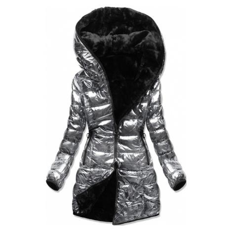 MODOVO Zimná bunda perleťovo-strieborná