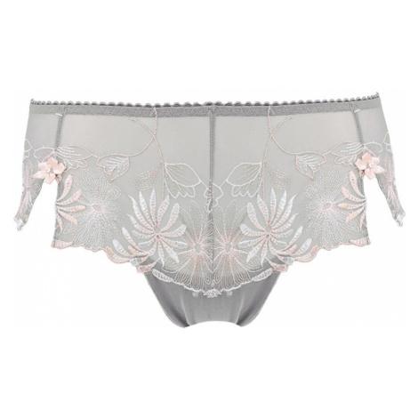 POUR MOI - St.Tropez grey/pink vyšívané francúzske nohavičky