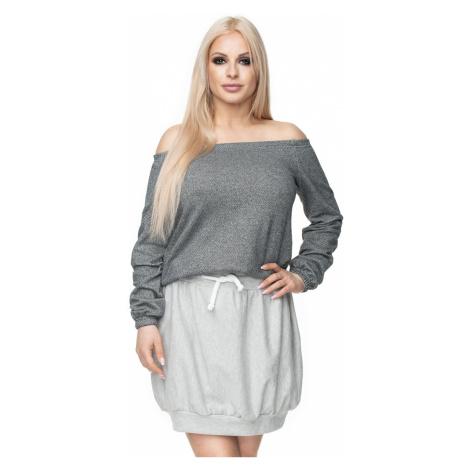 Svetlosivá sukňa 0110 PeeKaBoo