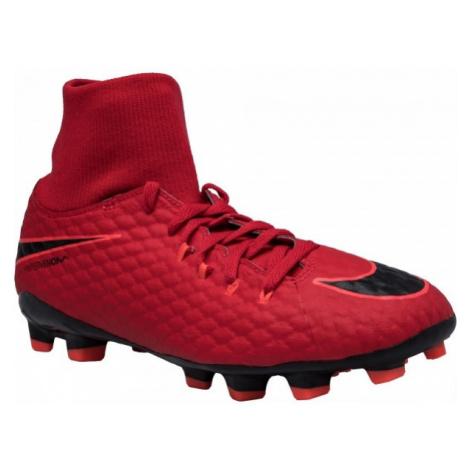 Nike HYPERVENOM PHELON FG DF JR červená - Detské kopačky