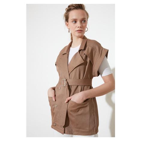 Trendyol Camel Belt Vest