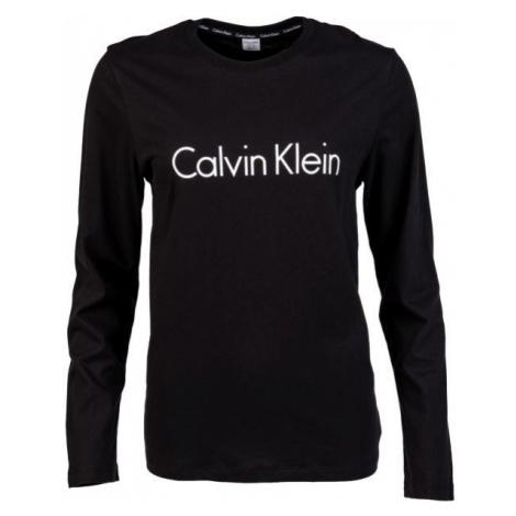 Calvin Klein L/S CREW NECK čierna - Dámske tričko