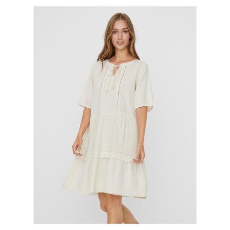 Bia Šaty Vero Moda Biela