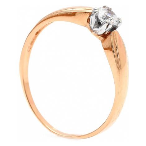 Zlatý zásnubný prsteň SYD
