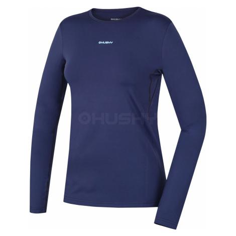 Husky Active winterlong modrá, Dámske termo tričko - jeseň, zima