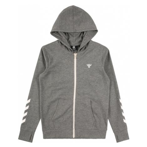 Hummel Tepláková bunda 'Pless'  sivá melírovaná / biela