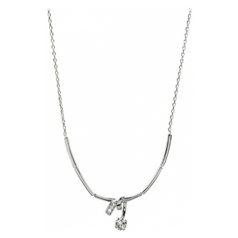 Silver Cat Strieborný náhrdelník so zirkónmi SC204