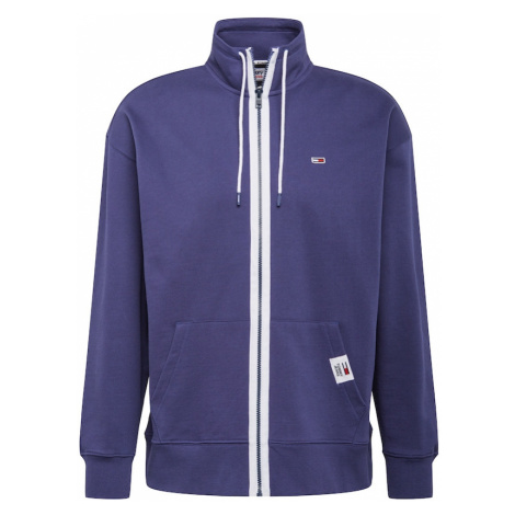 Tommy Jeans Tepláková bunda  námornícka modrá / biela Tommy Hilfiger