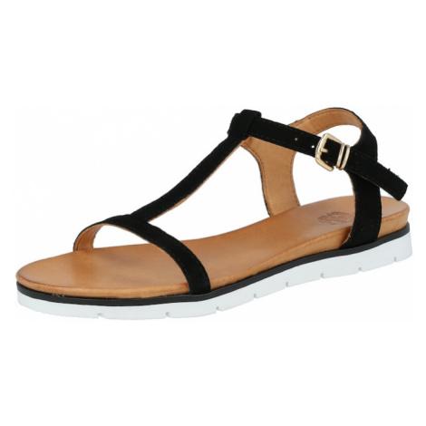 Apple of Eden Remienkové sandále  čierna