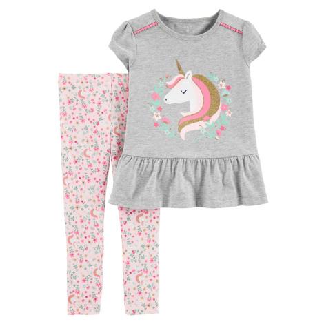 CARTER'S Set 2-dielny tričko kr.rukáv, legíny Unicorn dievča 12 m/vel. 80