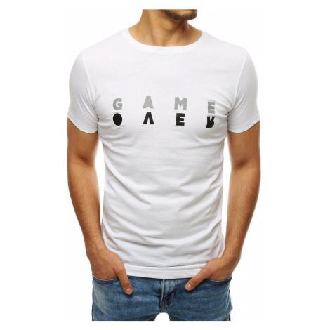 Biele tričko s nápisom GAME OVER DStreet