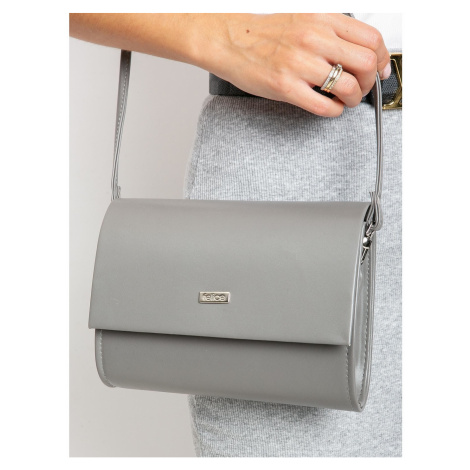 Clutch bag made of ecological gray leather