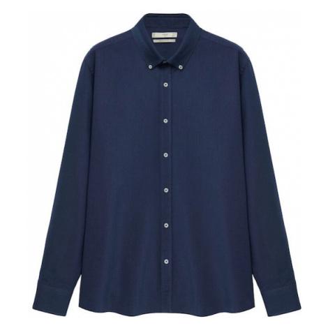 MANGO MAN Košeľa 'Oxford'  námornícka modrá
