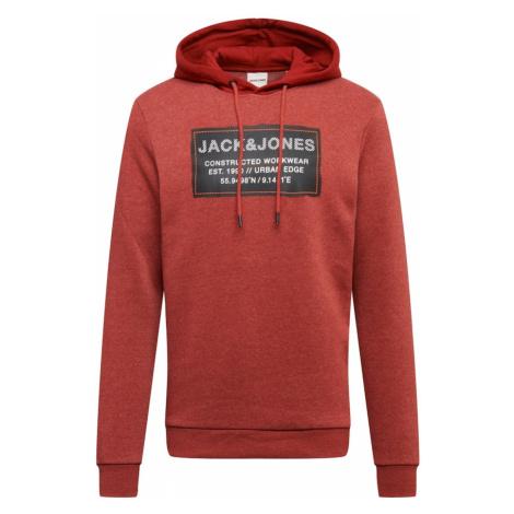 JACK & JONES Mikina 'STORY'  červená melírovaná / čierna / biela
