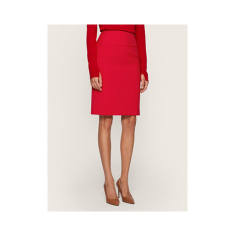 Boss Puzdrová sukňa Vacriba 50435839 Červená Regular Fit Hugo Boss