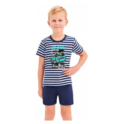 Chlapčenské pyžamo Max modré prúžky Taro