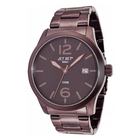 Jet Set Analogové hodinky Milan J6280BR-762 s vodotěsností ATM