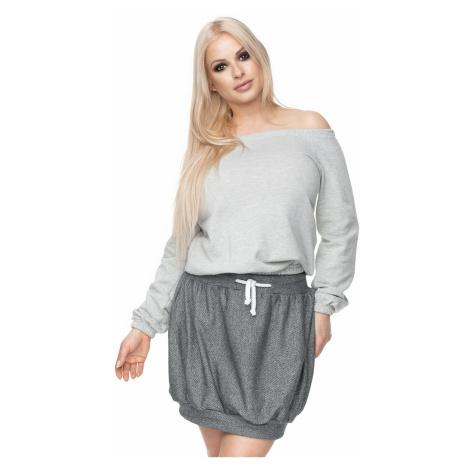 Tmavosivá sukňa 0110 PeeKaBoo