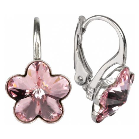 Troli náušnice Dívčí strieborné Flower Light Rose E474410KLAgRHLightRose