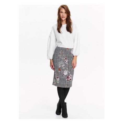 Kockovaná midi sukňa Top Secret