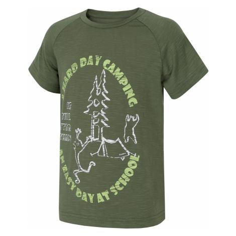 Husky Zingl Kids tm.zelená, Detské tričko
