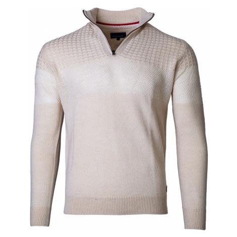 Pánsky sveter na zips Isai béžový