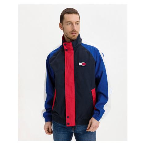 Tommy Jeans Badge Colorblock Bunda Modrá Červená Tommy Hilfiger