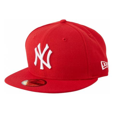 NEW ERA Čiapka '59FIFTY MLB Basic New York Yankees'  červená