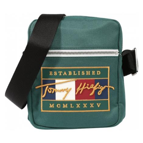 TOMMY HILFIGER Taška cez rameno  zelená / žltá / tmavomodrá / biela / červená