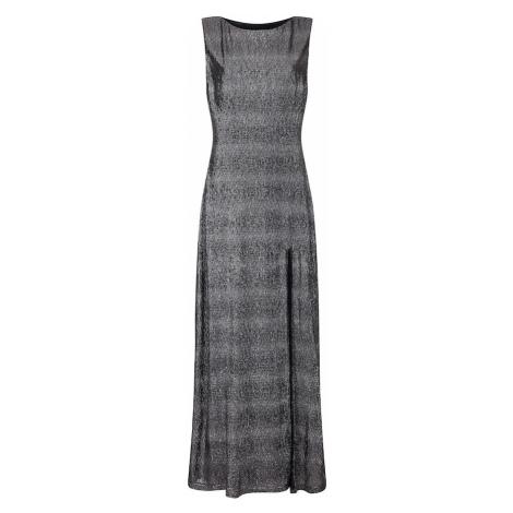 Mela London Večerné šaty 'SIDE SLIT SHIMMER MAXI DRESS'  čierna