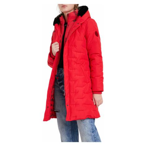 Desigual červený kabát Padded Anya
