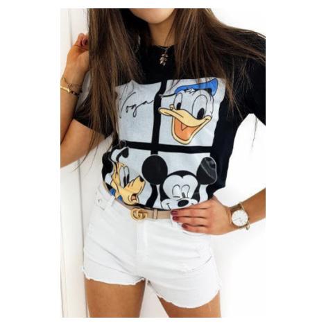 MICKY FRIENDS women's T-shirt black RY1438 DStreet