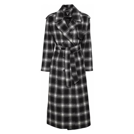 Missguided Prechodný kabát  čierna / biela