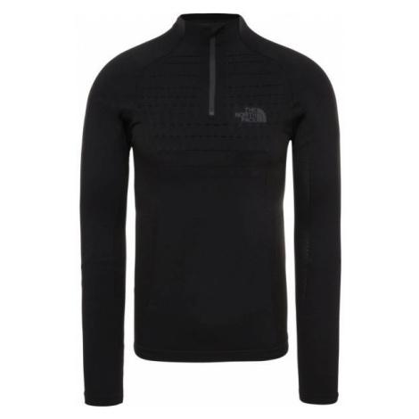 The North Face SPORT L/S ZIP NECK M čierna - Pánske tričko