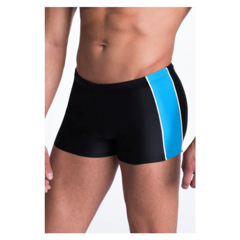Pánske plavky boxerky Hector čierno modré Primo