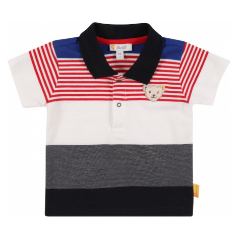 Steiff Collection Tričko 'Poloshirt'  námornícka modrá / biela / čierna / sivá / červená