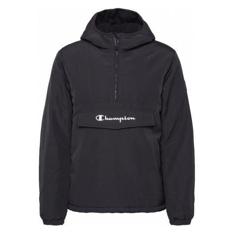 Champion Authentic Athletic Apparel Prechodná bunda  čierna / biela