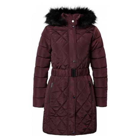 Dorothy Perkins Zimný kabát  vínovo červená
