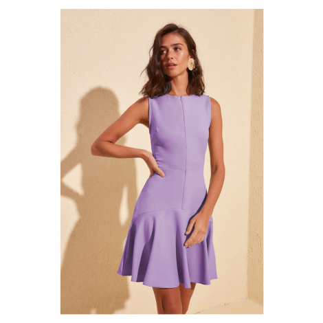 Trendyol Purple Zipper Detailed Dress Lilac