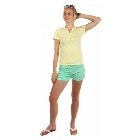 Bavlnené dámske tričko s krátkym rukávom a výstrihom do véčka