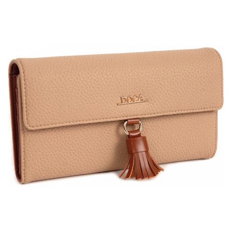 Dámska peňaženka Doca 65009 - béžová