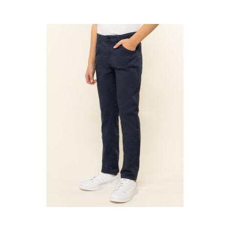 Guess Bavlnené nohavice L01B06 W7RQ0 Tmavomodrá Regular Fit