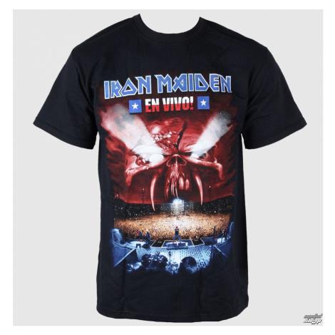 Tričko metal ROCK OFF Iron Maiden En Vivo Čierna