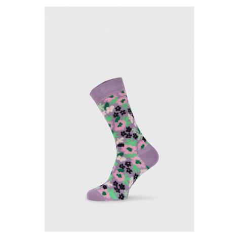Ponožky Happy Socks Flower fialová
