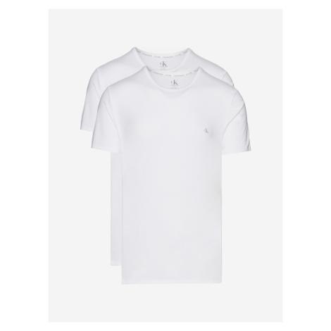 Spodní triko 2 ks Calvin Klein Biela