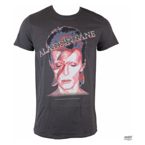 Tričko metal ROCK OFF David Bowie Aladdin Sane sivá