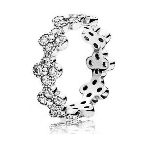 Pandora Nežný kvetinový prsteň 191000CZ mm