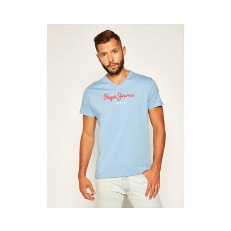 Pepe Jeans Tričko Eggo V PM501389 Modrá Regular Fit