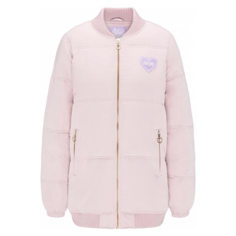 MYMO Zimná bunda  ružová / svetlofialová / biela